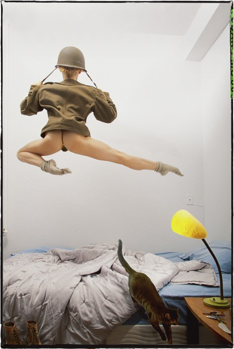 Guy Le Baube, Airborne Back, 2013. Archival pigment print, 28 × 42 in or 71 x 107 cm. Artist's proof.