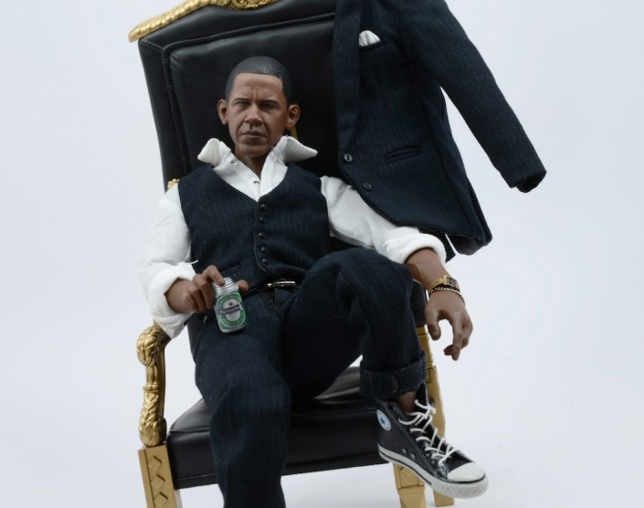 Santlov, Obama Swag, 2013. C-Print Mounted on Plexi, 34 × 36 in or 86 × 91 cm.