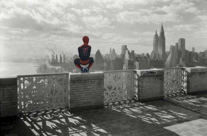 Santlov, Spidey Archives, 2015. C Print Mounted on Plexi, 24 × 36 in or 61 × 91.4 cm.
