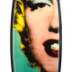 Tim Bessell, Carbon Marilyn Turquoise, 2015. Hand shaped art surfboard, 79.2 × 20 x 2.5 in or 201 × 53 x 6.3 cm.