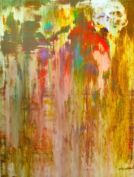 Keith Paciello, War of Colors, 2015. Mixed Media on Canvas, 48 × 36 in or 121.9 × 91.4 cm.