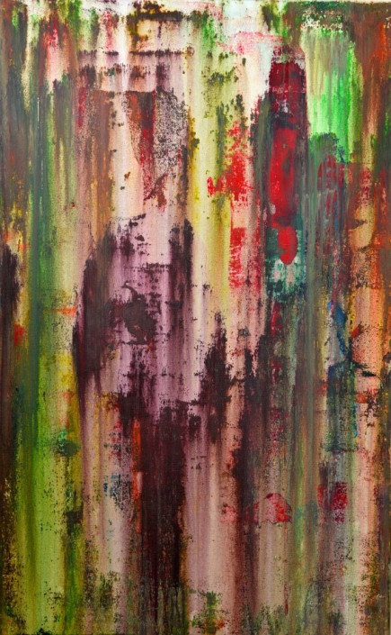 Keith Paciello, Acid Rain, 2015. Mixed Media on Canvas, 48 × 30 in or 121.9 × 76.2 cm.