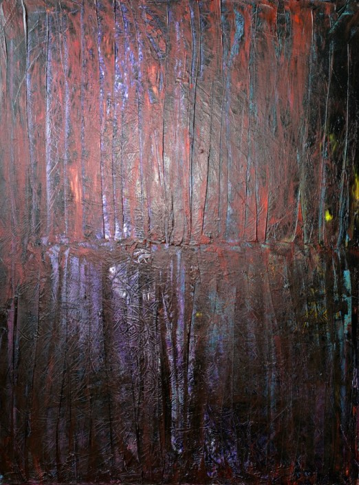 Keith Paciello, Magic Forest, 2015. Mixed Media on Canvas, 40 × 30 in or 101.6 × 76.2 cm.