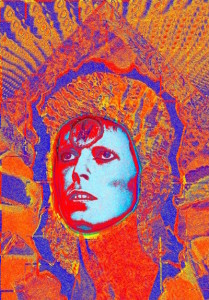 Mick Rock, Bowie Moonage Daydream,2008. Gelatin Silver print. Dimensions vary, please inquire.