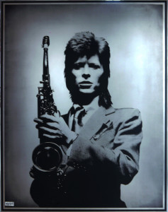 "Mick Rock, Bowie ""Isolated"" (Etching), 2012. Acid etched number 316 marine grade stainless steel with non-directional finish and baked polyurethane infill, 60 × 48 in or 152.4 × 121.92 cm."
