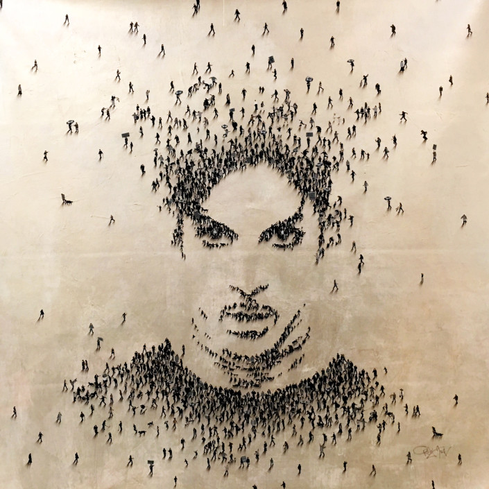 Craig Alan, Prince, 2016. Acrylic on canvas, 48 × 48 in or 122 × 122 cm.