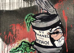 Skyler Grey - Popeye Chanel Spinach on canvas