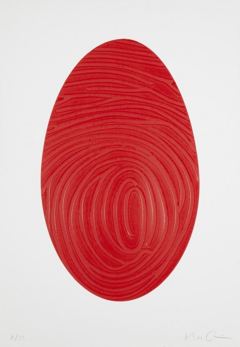 Marc Quinn, Labyrinth CD, 2014. Woodcut Print. Edition of 35, 32.5 × 22.5 in or 83 × 57 cm.