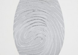 Marc Quinn, Labyrinth AG Silver, 2014. Woodcut Print. Edition of 35, 32.5 × 22.5 in or 83 × 57 cm.